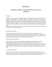 Tutorial 2 - CHAPTER 2 Capital Market and Market Efficiency.docx