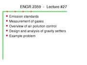 ENGR 2359 Lecture No. 27