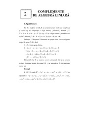 Elements of linear algebra lecture note