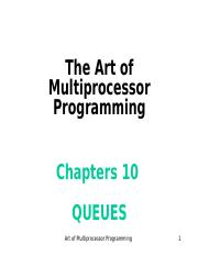 Art of Multiprocessor Programming--ch10