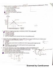Quiz 2 Supply & Demand ECON 2301