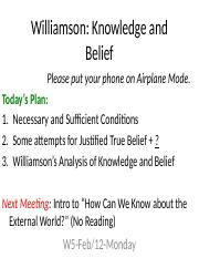 W5-2_12-Mon-Williamson-Knowledge and Belief.pptx