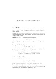 2. Vector-valued functions
