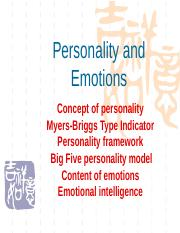 chapter03 Personality and emotions