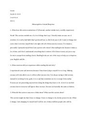 Act like a success Journal Response 1.docx