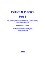 Essential Physics 1 - F. Firk