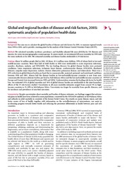 Global Burden of Disease 1-22-09