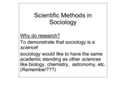 Scientific Research in Sociology