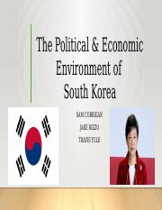International Business South Korea Politics
