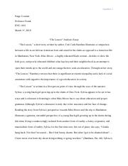 The Lesson Analysis Essay.docx
