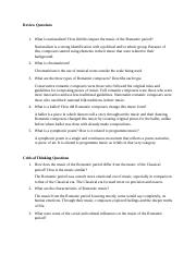 7.11 Review Questions Romantic Era of Music.docx