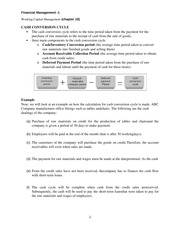 working capital management 10.1docx