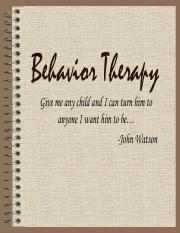 Behaviorial & Cognitve therapy ClinPsy 2016 short version