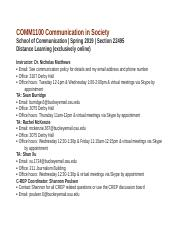 COMM1100 Communication in Society Syllabus .docx