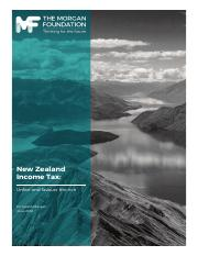 NZ Tax- Unfair and favours the rich
