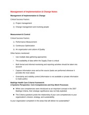 Management of Implementation Notes