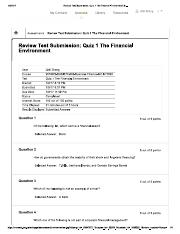 Review Test Submission_ Quiz 1 The Financial Environment &...
