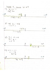 Weekly Excercise Set # 2 Linear Equations Notes