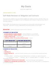 My Oasis: Self-Made Reviewer on Obligation and Contracts.pdf
