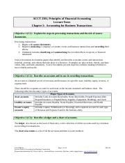 Lecture Notes 02 (14 pages) FMA6e Accounting for Business Transactions.doc