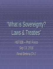HST338 Sov, Laws,Treaties Sep 13