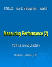 06 - Measuring Performance 2 - Oct  17 2016