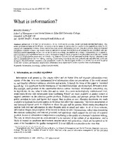 What is Information M4_Reading Assingment