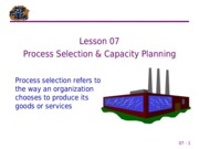 07 Process Selection & Capacity Planning