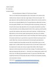 Great depression essay jessica longmire mr lukemeyer 2nd world