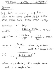 Past Paper 2006 Solutions