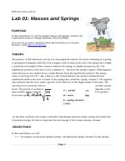 PHY214_OnlineLab_01_Masses_and_Springs