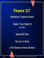 Chapter 9 Finance 317.ppt