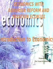 Principles of Economics With Agrarian Reform and Taxation (1)