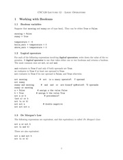 Lecture 12: Logic Operations
