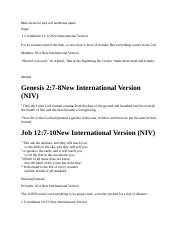 Bible verses for part 2 of worldview paper.docx