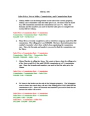 Price, Net, Comm, Commm Rate Problems (1)