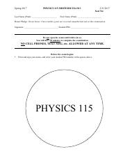 Physics_115_Exam_3_Spring_2017_Solutions