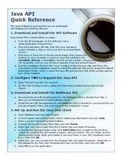JavaAPIQuickReference