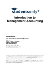 Summary Management Accounting