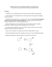 Exp. 10 - E2 - Synthesis of Cyclohexene