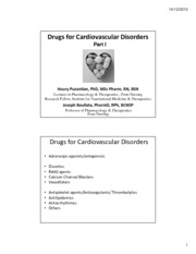 CV Drugs I (2 Slides)