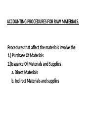 ACCOUNTING PROCEDURES FOR RAW MATERIALS - Carol.pptx
