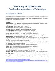 Facebook, WhatsApp - Summary of Information.docx