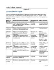 appendix c patient reports Appendix c: him's role in data capture, validation, and maintenance  its  patient population and its own performance, both for internal and external  reporting.