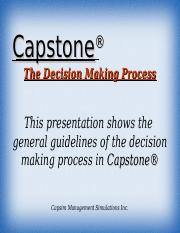 Capstone decision making process