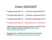 1 2008 Lecture 19 20 Aromatic_Compounds I II