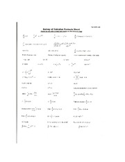 SurveyofCal Formula sheet