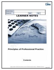 LN FNSINC401 Principles of Professional Practice