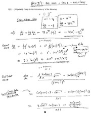 MATH 1823 Midterm 2 Solutions