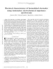 Electrical characteristics of biomodified electrodes using nonfaradaic electrochemical impedance spe